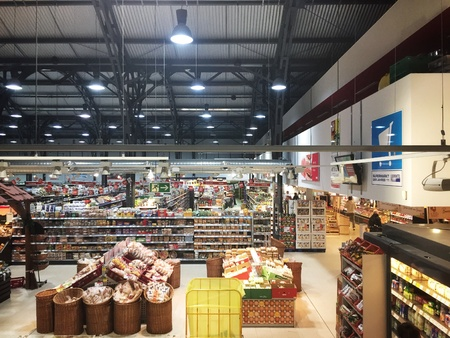 REWE supermarket in Frankfurt