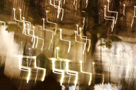 abstracted: Illuminating christmas decoration abstracted with slow exposure