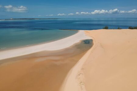 breathtaking sandbanks on an island with turquoise water