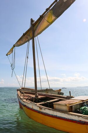old traditional sailing boats in the sea of