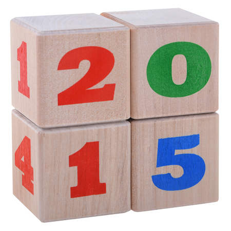 New year date cubes photo
