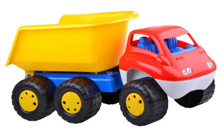 dumptruck: Colored dump-truck on white background