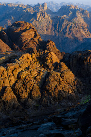 monte sinai: el descenso de la montaña de Moisés