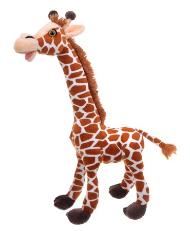giraffe soft toy isolated on white Stock Photo