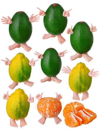 Large page of fruits photo