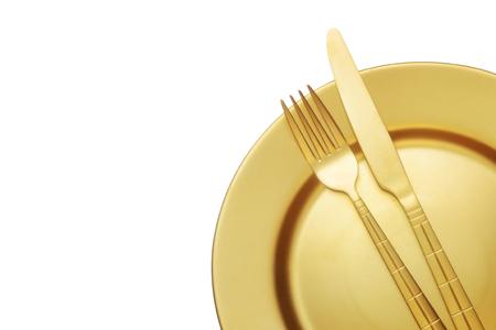 黄金のナイフとフォークを分離プレート