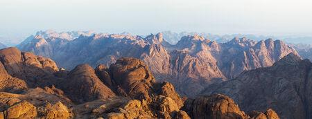 View from Moses Mountain Sinai. Egypt.