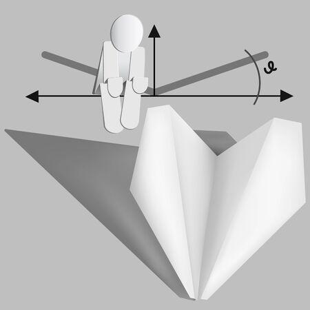 aerodynamics: Paper plane. Aerodynamics concept. Vector eps 10