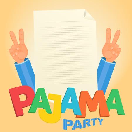 pijamada: Concepto de fiesta de pijama