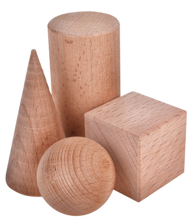 The wooden figure geometric shape 스톡 콘텐츠