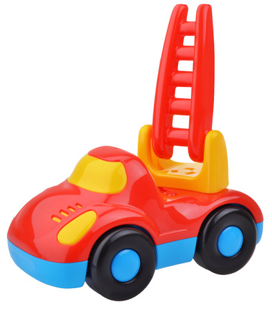plactic: Red fire engine toy