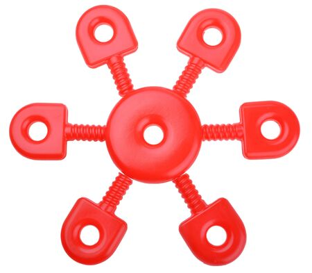 technological: futuristic technological snowflake design element isolated on white background Stock Photo