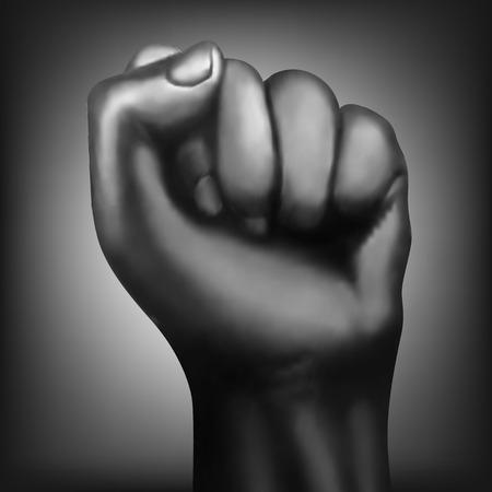 militant: Illustration of mans hand punch.