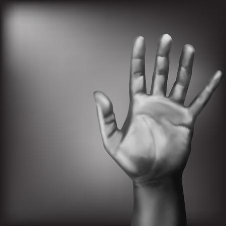 open palm: Open palm gesture. Vector illustration