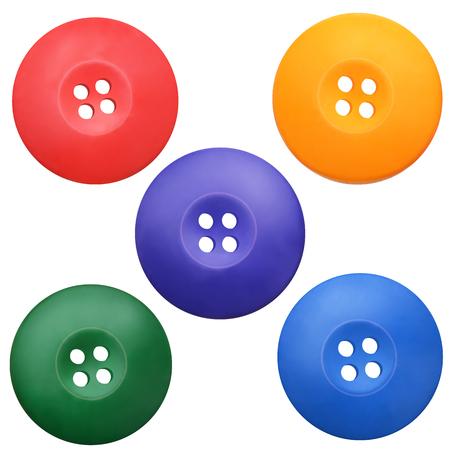 현실적인 의류 집합이 단추 색. 벡터 분기 EPS 10 스톡 콘텐츠 - 43634359