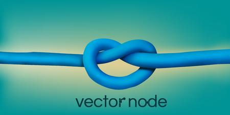 node: Realistic node. Wires design element. Illustration