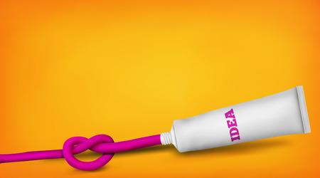 a solution tube: New big idea realistic concept