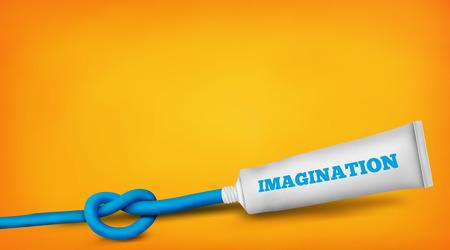Imagination and creative thinking concept. realistic illustration Illustration