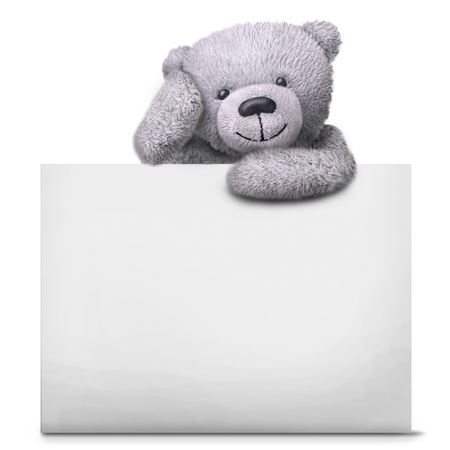 Classic teddy bear toy with paper card template isolated over classic teddy bear toy with paper card template isolated over white background stock photo 56563246 maxwellsz