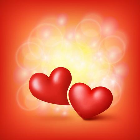 love hearts: Love Hearts. Valentine card template. Vector illustration