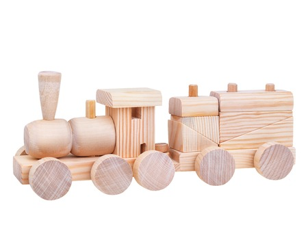 logic: Wooden Toy logic Train Stock Photo