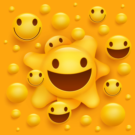 yello: Yellow smiley face character. Molecular structure