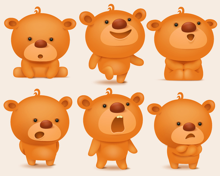 creation kit: Creation set of teddy bear characters with different emotions