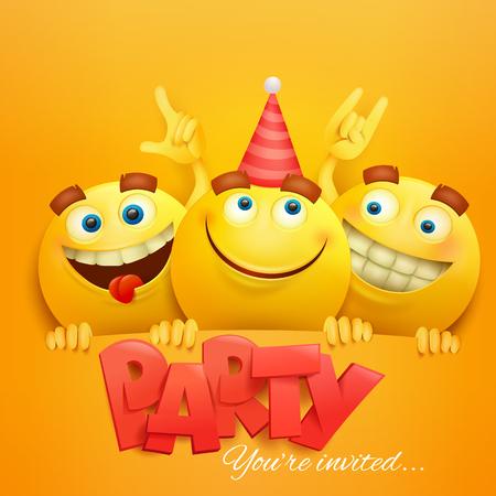 Plantilla De Tarjeta De Invitación De Feliz Cumpleaños Con