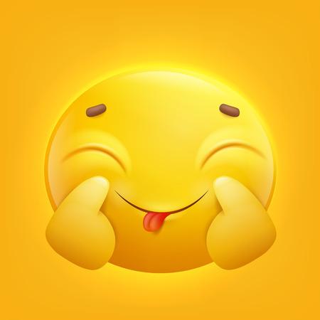 Positive yellow smiley emoji emoticon.