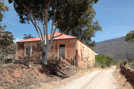 ABANDONED OLD SCHOOL IN LADISMITH, SOUTH AFRICA