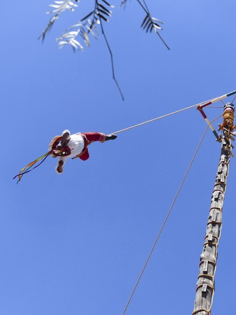 flying man: Flying man of Papantla, Mexico DF Stock Photo