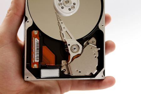 hard disk: Inside Opened Hard Disk Drive hdd Stock Photo