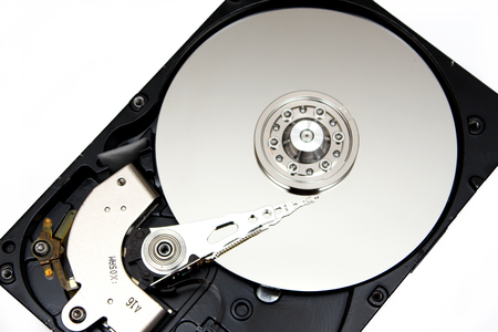 hard disk drive: Inside Opened Hard Disk Drive hdd Stock Photo