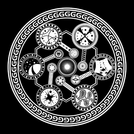 fate: Fate wheel. Vector illustration