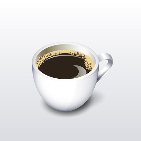 faience: Cup of coffee. Vector illustration