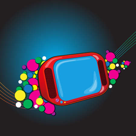 tvset: Abstract Composite Vector Background with TVset. Vector illustration Illustration