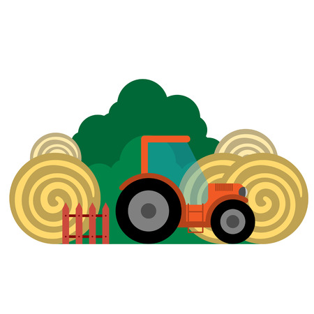 Vector illustration of farm's transport and related items. Grouped for easy editing.  イラスト・ベクター素材