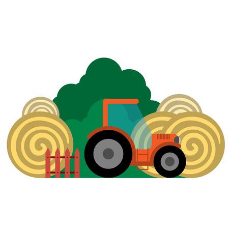 Illustration vectorielle du transport de la ferme et des articles connexes. Groupé pour faciliter l'édition.