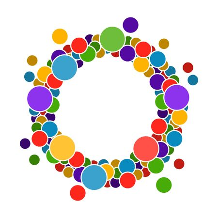 Round frame with circles for your text. It is easy to edit. vector illustration.