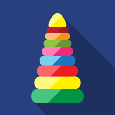 clack: Toy for baby. Babys pyramid. Inventory for the baby. It is easy to edit. Vector illustration.