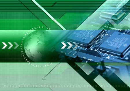 massive: world technology background Stock Photo