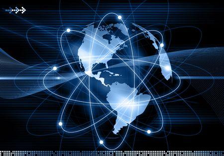 broadband: Abstract futuristic global background