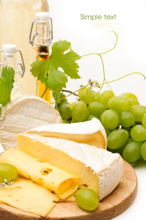 cheeseboard: various types of cheese