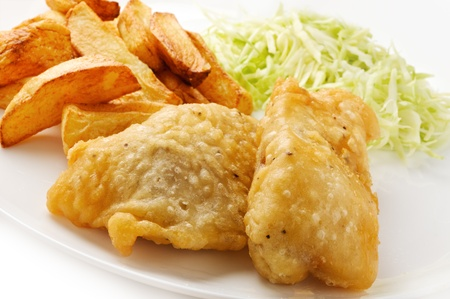 cod fish: Fish And Chips Stock Photo