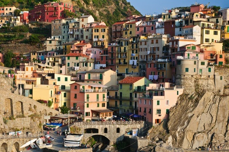 amore: Sunset light in Manarola Village