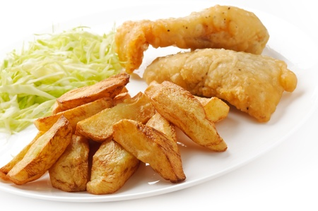 combo: Fish And Chips Stock Photo