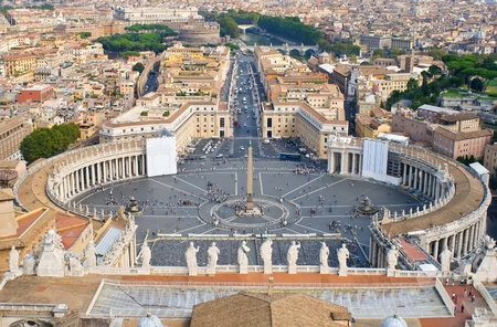 Vatican Rome aerial view