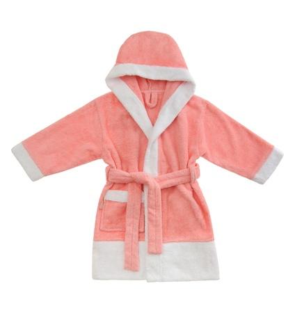 pink bathrobe isolated on white background Stock Photo