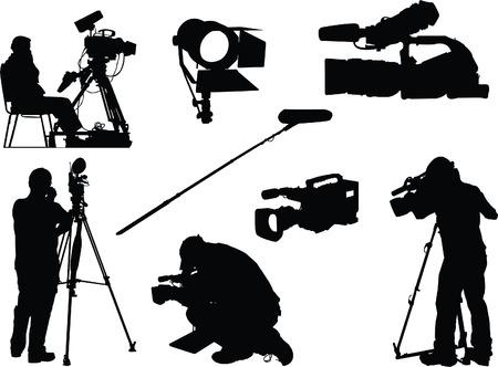 battant: objets cam�raman et film  Illustration
