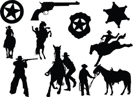 cowboy man:  cowboy sheriff Rifle